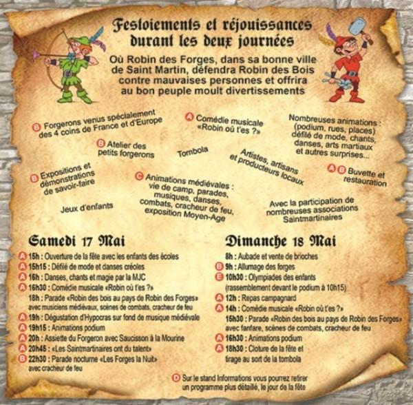 Programme de la fête de la Forge - Compagnie Franche du Forez